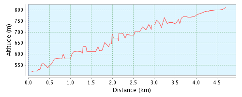 Bergrennen - Höhenprofil